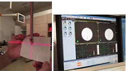 空間的座標と画像中心座標の管理(レーザー指示精度とIGRTの精度)